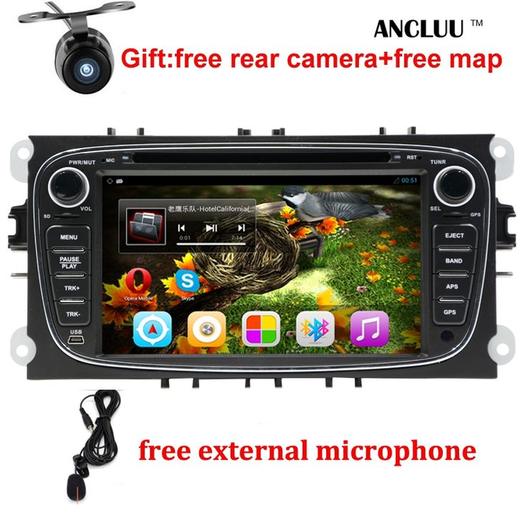 """233.49$  Buy here - """"Android 6.0 Quad core 2 Din 7"""""""" Car DVD Player For FORD/FOCUS 2 /MONDEO/S-MAX/CONNECT 2008 2009 2010 2011 head unit Car GPS Radio""""  #buyininternet"""