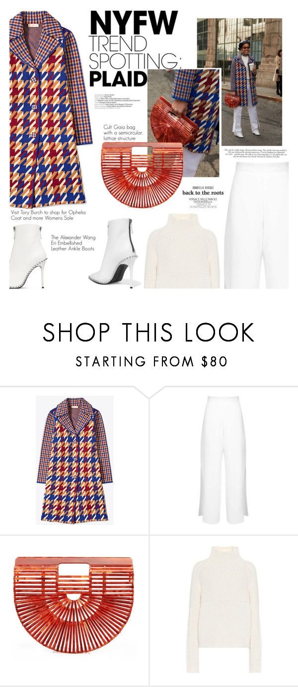"""""""Win It! NYFW Trend Spotting: Plaid"""" by dixiebelle81 on Polyvore featuring Miss Selfridge, Cult Gaia, Burberry, Alexander Wang and Victoria Beckham"""