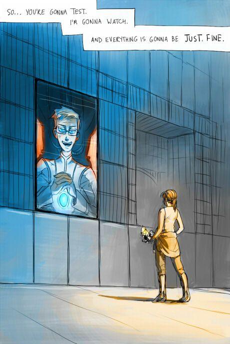 Portal 2: Just fine by pinali.deviantart.com