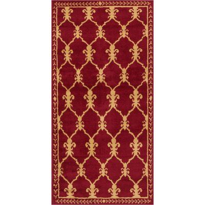 "Fleur De Lis Living Bartz Trellis Power Loom Red Indoor Area Rug Rug Size: 2'3"" x 3'11"""