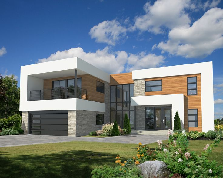 Plan 80828pm 4 bed modern house plan with master deck for 2 bedroom contemporary house plans