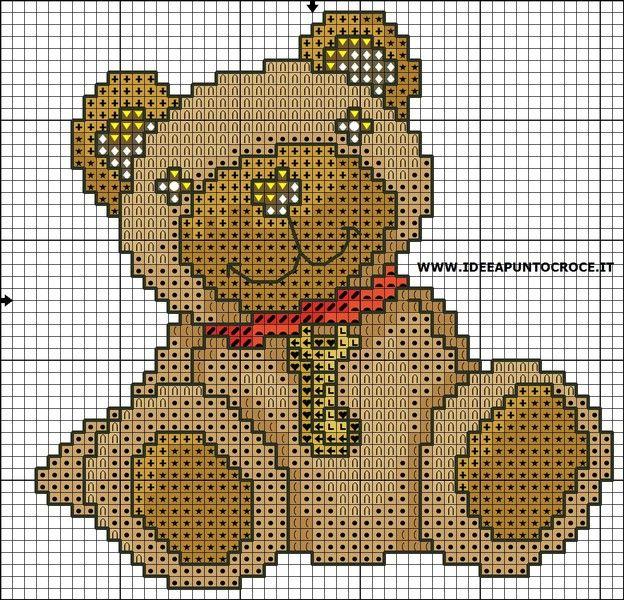 17 migliori idee su schemi orso all 39 uncinetto su pinterest for Farfalline punto croce