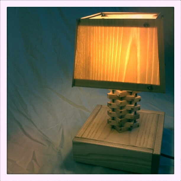 veneer table lamp
