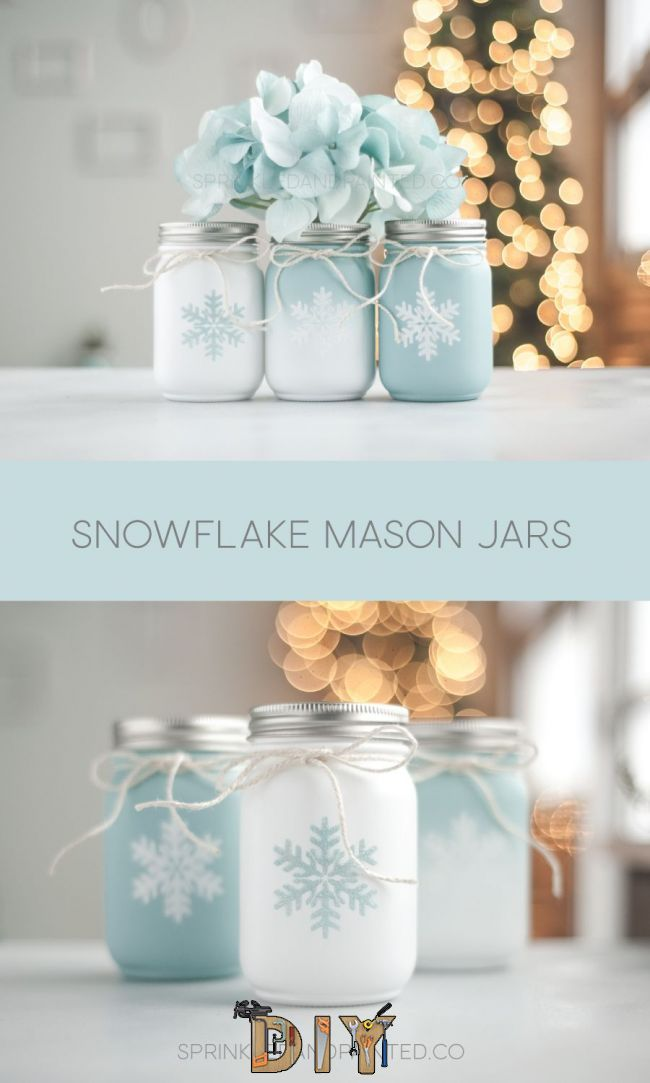Pin By Nicole Stacey On Mason Jars Pinterest Mason Jar Crafts Mason Jars And Christmas Mason Jars Holiday Mason Jar Mason Jar Crafts Diy Diy Jar Crafts