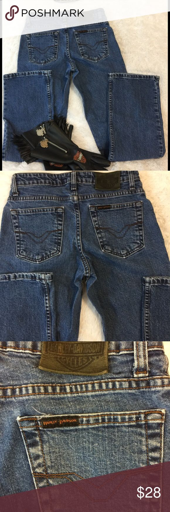 Like New Harley Davidson Jeans Excellent used condition, size 2, no pets/smoke closet Harley-Davidson Jeans Boot Cut