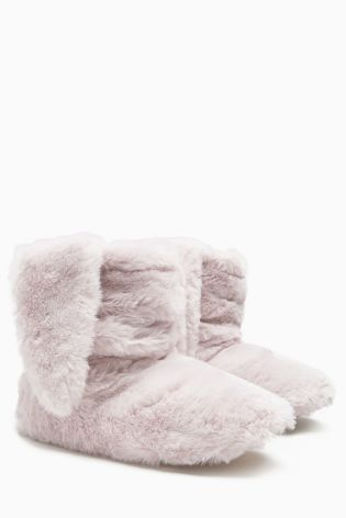 Blush Snuggle Bunny Slipper Boots