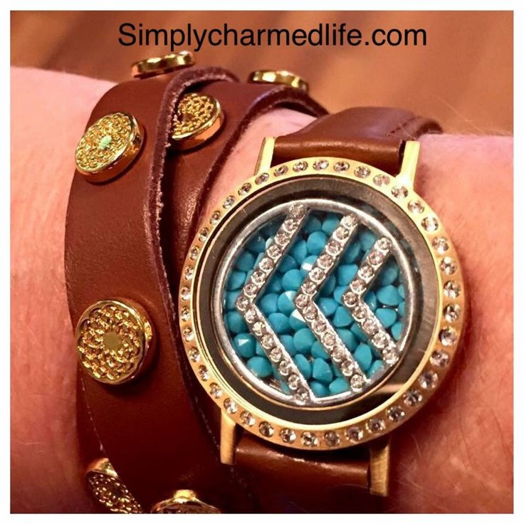 www.simplycharmedlife.com South Hill Designs, fall jewelry trend, locket bracelet, leather studded wrap, turquoise, chevron, customized jewelry