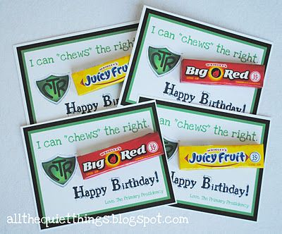 """Primary """"chews"""" the right birthday cards"""