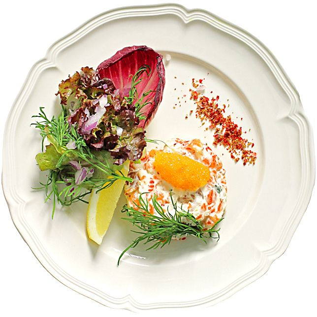 Laxtartar med rom och crème fraiche | Köket.se