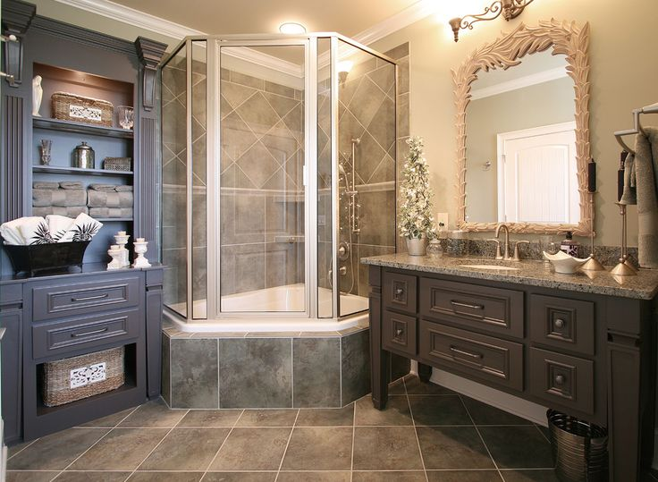Big Tub Shower Combo Part - 32: Corner Tub With Shower Combo