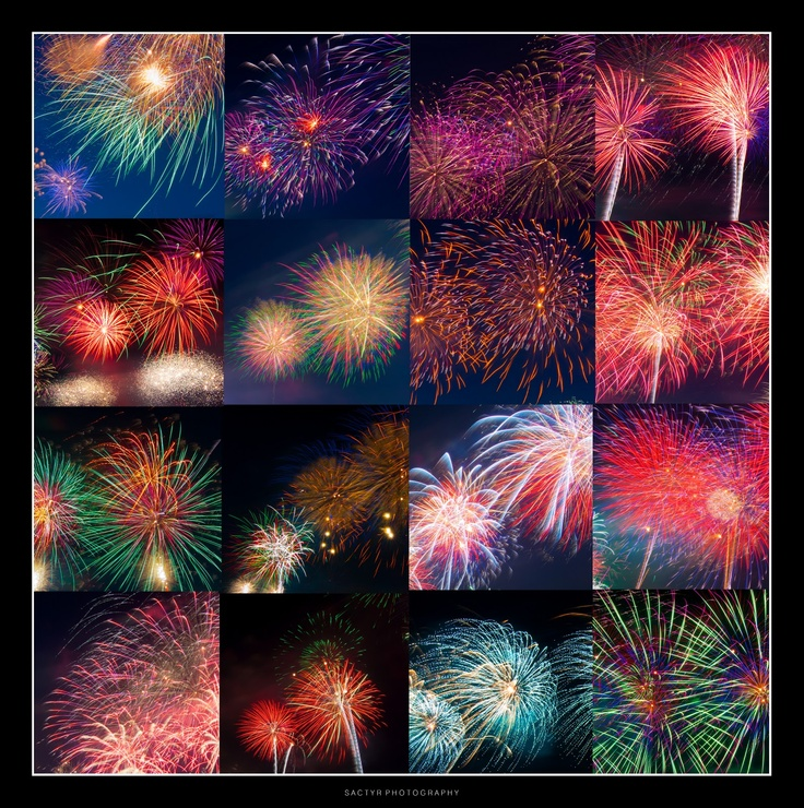 Canberra's Australia Day Fireworks Collage