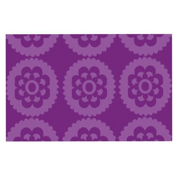 """Nicole Ketchum """"Moroccan Purple"""" Decorative Door Mat"""