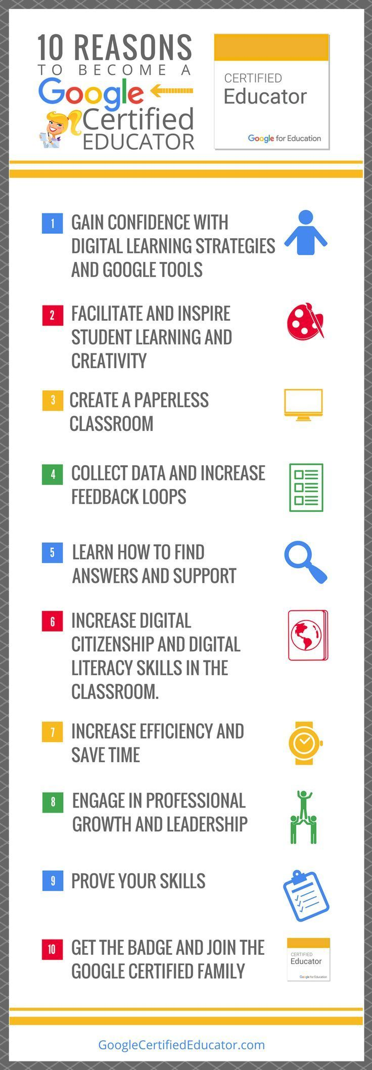 10 Reasons to Become a Google Certified Educator #edtech #education #learning #g…