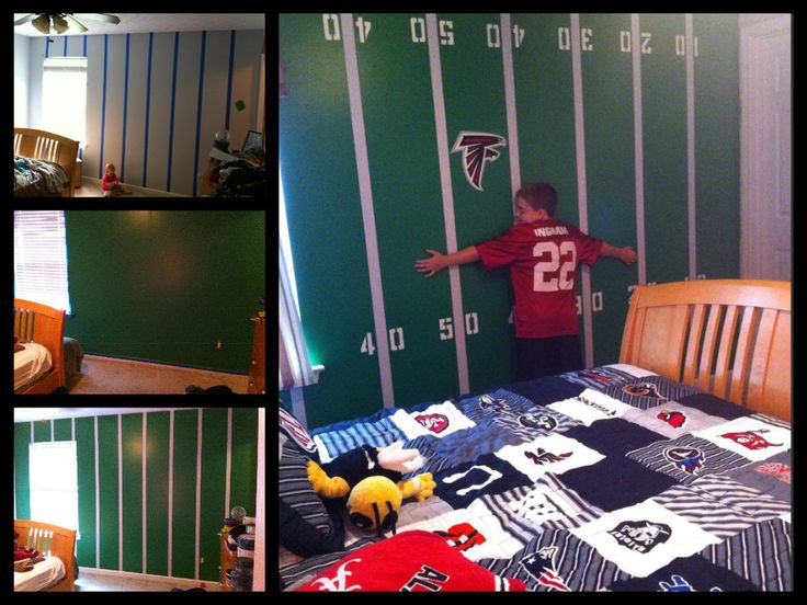 field wall boy 39 s bedroom man cave kids bedrooms football bedrooms