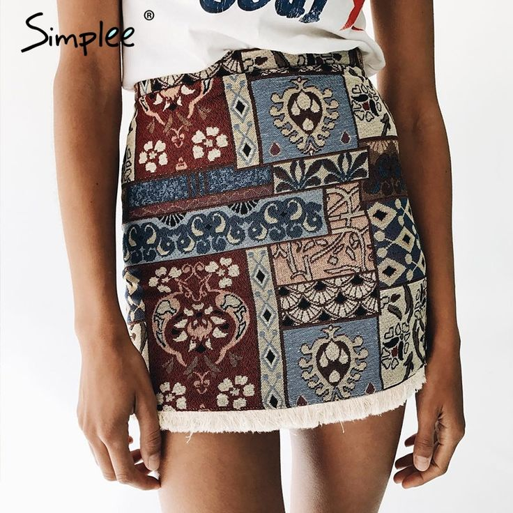 Simplee High waist skirts womens bottom Short boho style chic pencil skirt female Vintage sexy mini skirt 2017 summer beach-in Skirts from Women's Clothing & Accessories on Aliexpress.com | Alibaba Group