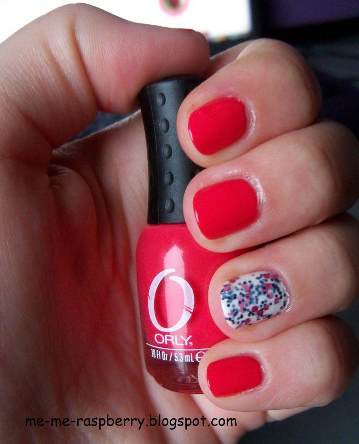 ORLY - Terracotta (dwie warstwy), palec serdeczny: Golden Rose Jolly Jewels nr 110