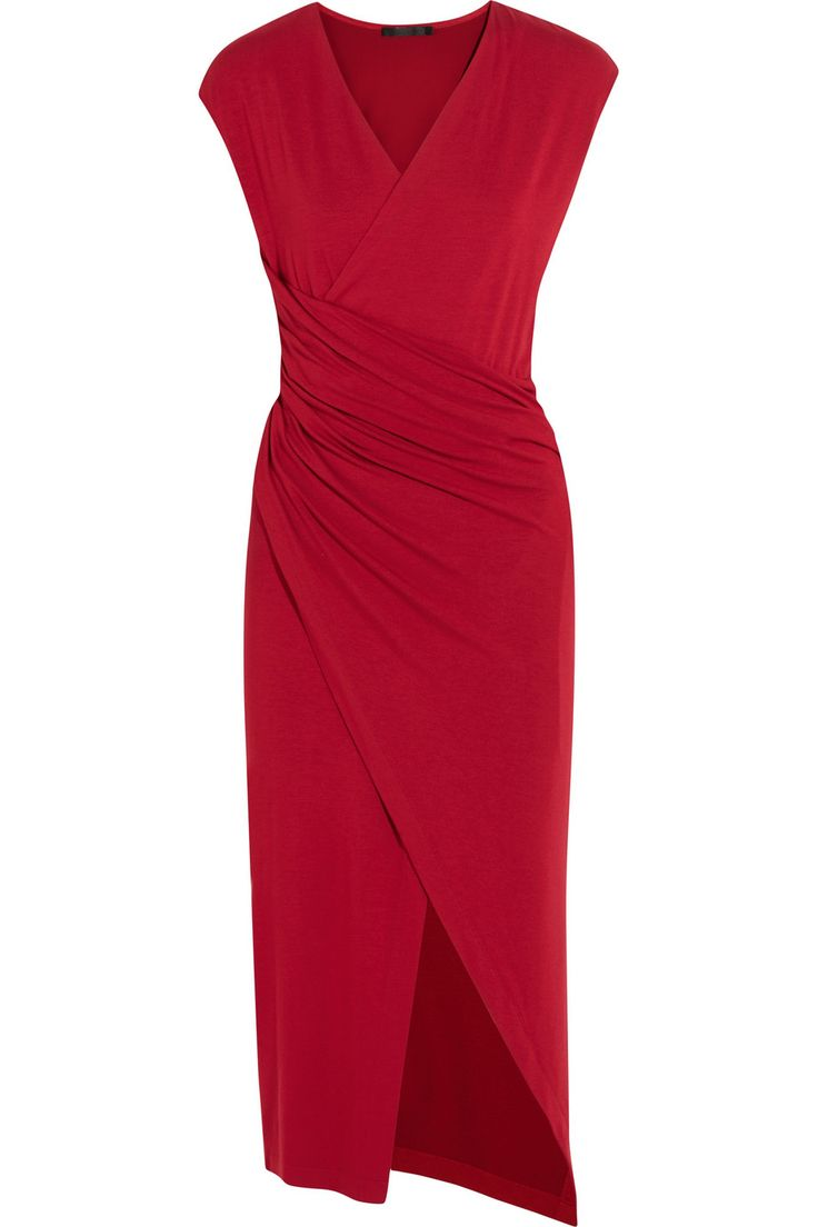 Donna Karan New York | Ruched stretch-jersey dress | NET-A-PORTER.COM