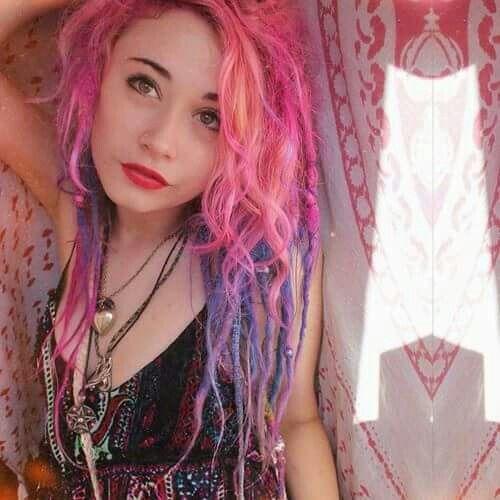Dreads, dreadlock, purple, pink