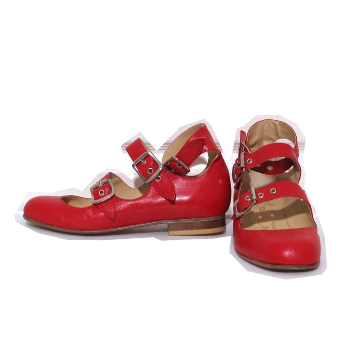 Vivienne Westwood Gold Label Roman Three Straps in Red Leather