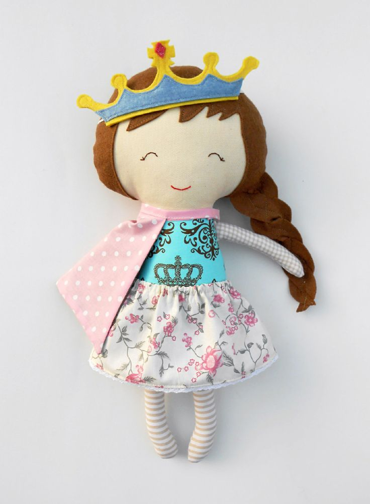 Rag doll gift for children princess fabric doll personalized gift for kids custom unique toy for girls handmade princess
