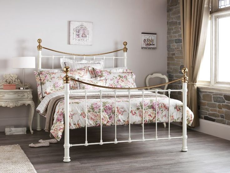 The beautifully crafted Ethan metal bed frame, has a romantic appeal  and is inspired by Victorian design.
