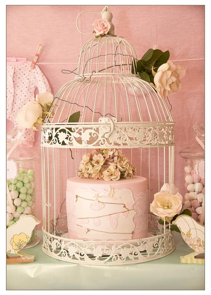 If you wanted to decorate the food or a present/cards table, I have a bird cage the same as this with coloured birds on and fairy lights inside