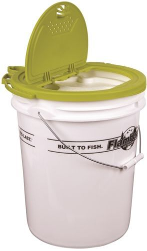 Bait Buckets 179986: Flambeau 5 Gal Insulated Bucket With Premium Bait Bucket Lid BUY IT NOW ONLY: $43.0