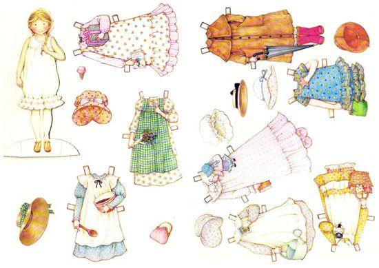 Holly Hobbie di carta da ritagliare e vestire