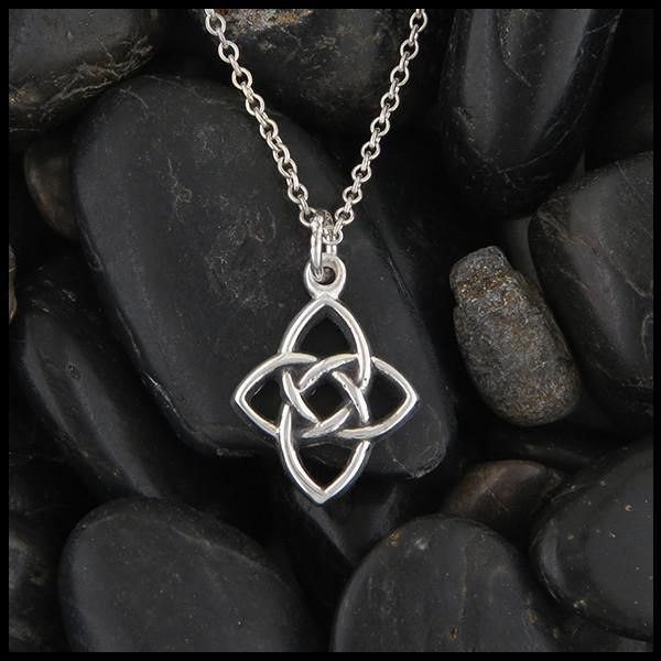 Simple Starlight knot pendant in Sterling Silver.