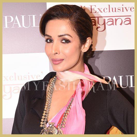 Malaika Arora Khan in Satya Paul Saree, Satya Paul Diwali Collection launch, MyFashgram