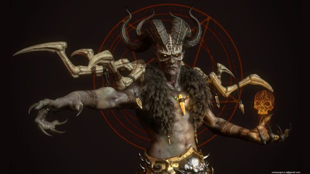 Diablo II's Final Boss Looking Unusually Badass