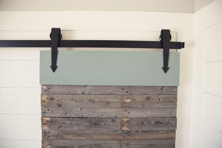 "Beautiful ""arrow"" barn door hardware"