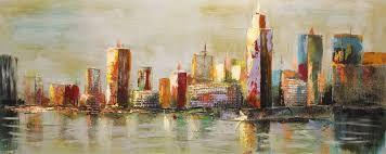 Afbeeldingsresultaat voor schilderij stad