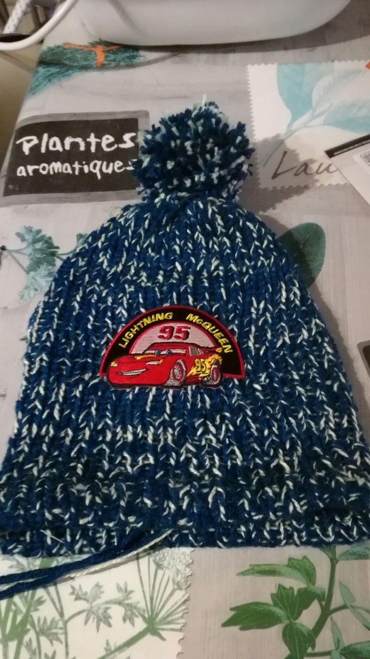 Bonnet de mon fils au tricotin