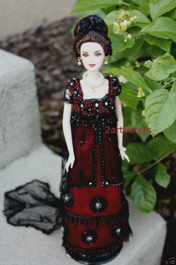 OOAK Lady Mary Crawley Barbie Downton Abbey Edwardian Doll Michelle Dockery #MATTEL
