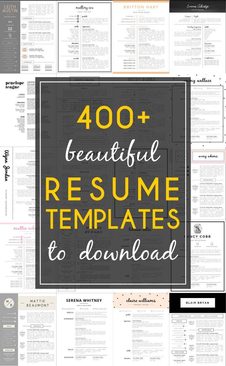 400+ Resume Templates Youu0027ll Want To Download Now! Https://