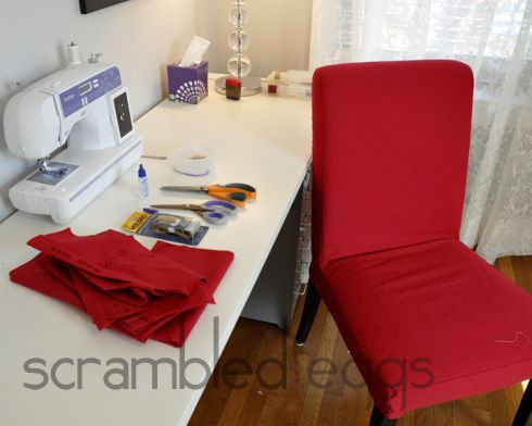 New covers for IKEA Harry or Henriksdal chairs - awesome DIY
