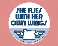 50 and 50 - THE STATE MOTTOS - OREGON - SHE FLIES WITH HER OWN WINGS
