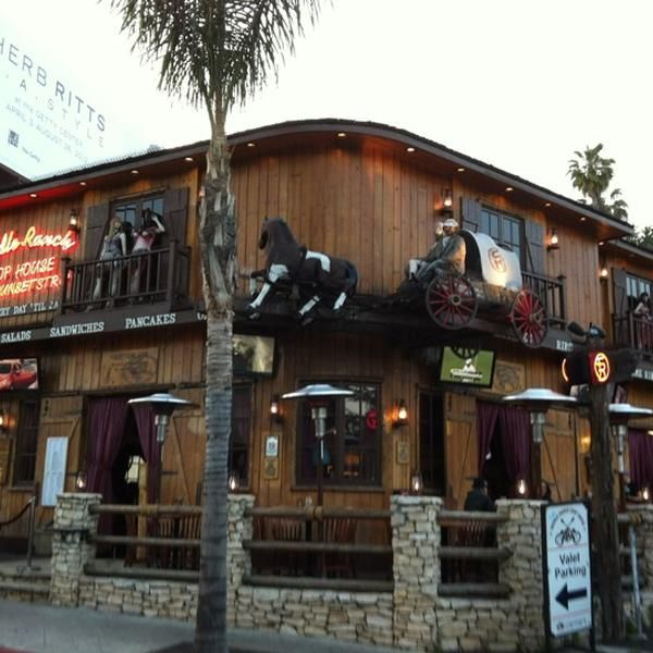 Saddle Ranch Chop House BBQ Joint, Bar, and American Restaurant 8371 W Sunset Blvd (at Kings Rd.), West Hollywood, CA 90069