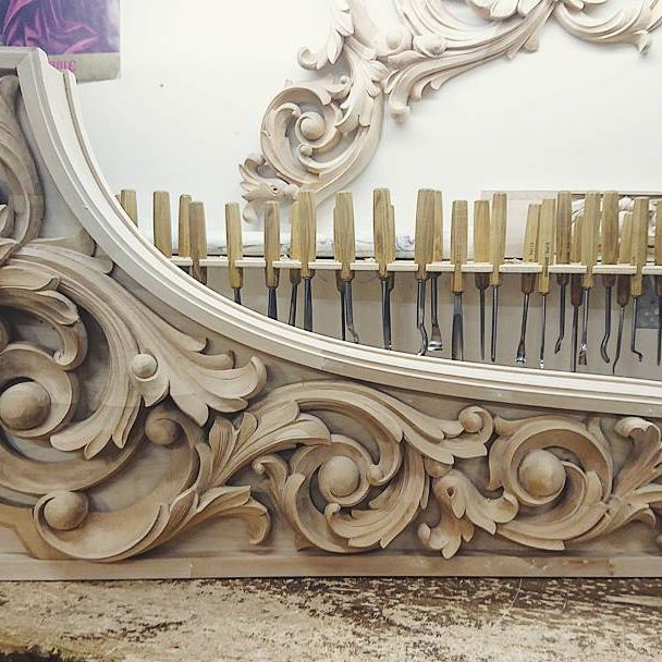 Wood Carving Architectural Acanthus