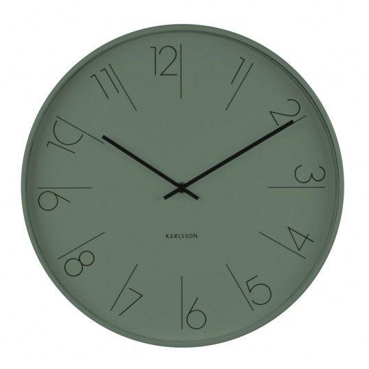 Väggklocka - Karlsson Elegant Numbers Green