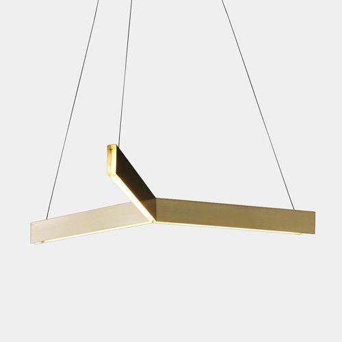 238 best modern chandeliers images on pinterest chandeliers a minimal geometric suspension light the tri pendant light is formed of three intersecting linear mozeypictures Images