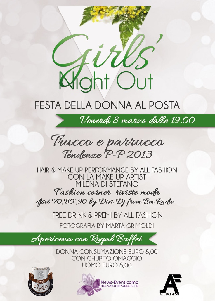 GIRLS NIGHT OUT FESTA DELLA DONNA