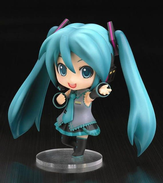 Hatsune Miku Mini Figurine $16 | Mini Hatsune Miku-sama is asking you to sing along ^^ You can change her expression, pose, and give her some accessories so her concert even more amazing. You can have her on https://www.etsy.com/shop/SEBOID  and have her concert on your own room!!