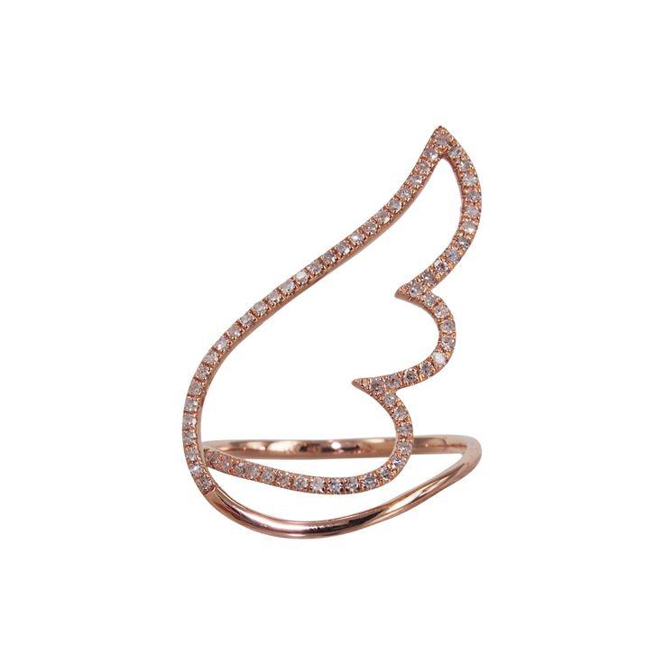 """""""Angel Wing"""" Diamond Ring - Plukka - Shop Fine Jewelry Online"""