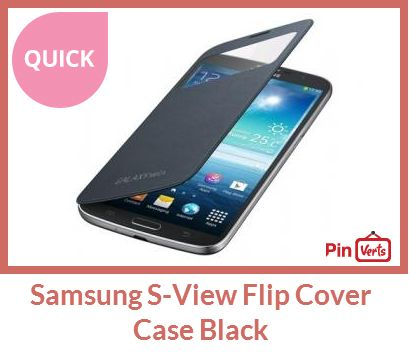 This case is a smart innovation of the flip cover. The flip cover protects the display in the same manner as the flip covers, however this one has a see-through window towards the top that will allow you to see certain information. It will be able to show details such as time and battery life as well as call and/or messaging details. Check out at http://pinverts.com/Samsung-S-View-Flip-Cover-Case-Black_70yu6e6