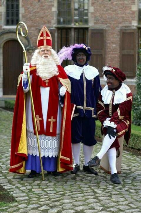 Sinterklaas en Zwarte Piet...scared the hell out of me when I was a kid :))