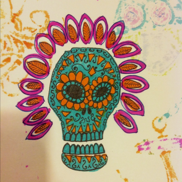 Dia de los Muertos doodle