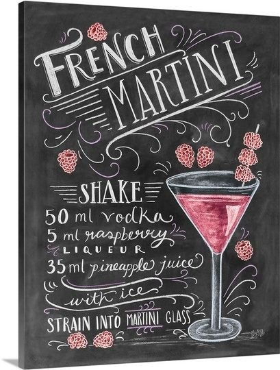 french martini handlettering pinterest cocktails getr nke und das fass. Black Bedroom Furniture Sets. Home Design Ideas