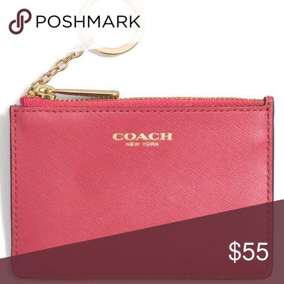 Coach skinny wallet in pink 💗 Coach mini skinny wallet in pink 💗 $55 Coach Bags Wallets